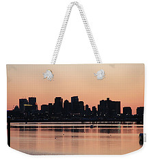 Boston Outline Weekender Tote Bag