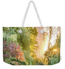 Boston Public Garden Sunrise Weekender Tote Bag