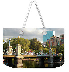 Weekender Tote Bag featuring the photograph Boston Publik Garden by James Kirkikis