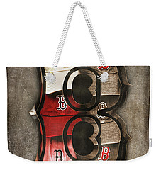 Weekender Tote Bag featuring the photograph Boston Red Sox  - Letter B by Joann Vitali