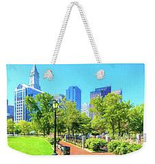 Boston Skyline From Columbus Park Weekender Tote Bag