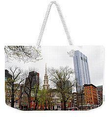 Boston Skyline From The Common Weekender Tote Bag