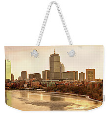 Boston Skyline On A December Morning Weekender Tote Bag