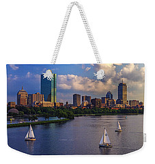 Boston Skyline Weekender Tote Bag