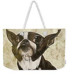 Boston Terrier - Antique Weekender Tote Bag