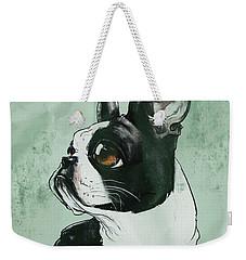 Boston Terrier - Green  Weekender Tote Bag