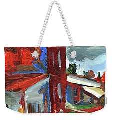 Bostwick Cotton Gin Clouds Weekender Tote Bag by John Jr Gholson