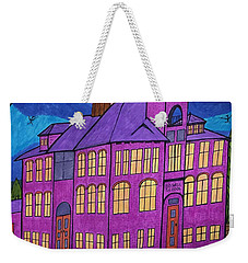 Weekender Tote Bag featuring the painting Boswell School. by Jonathon Hansen