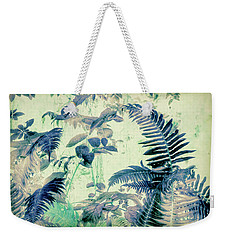 Weekender Tote Bag featuring the mixed media Botanical Art - Fern by Bonnie Bruno