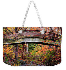 Botanical Gardens Arched Bridge Asheville During Fall Weekender Tote Bag
