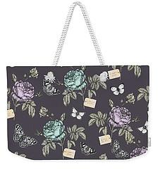 Botanical Roses Weekender Tote Bag by Stephanie Davies