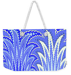 Botanicals In Blue Weekender Tote Bag by Ann Johndro-Collins
