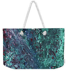 Weekender Tote Bag featuring the painting Botanicals by Karen Nicholson