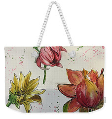 Weekender Tote Bag featuring the painting Botanicals by Lucia Grilletto