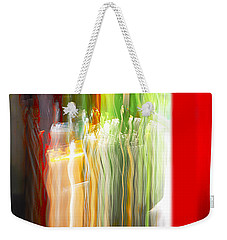 Weekender Tote Bag featuring the photograph Bottle By The Window by Susan Capuano