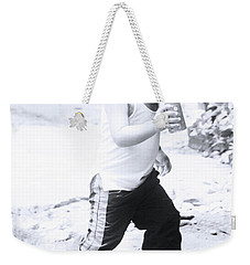 Weekender Tote Bag featuring the photograph Bottle Dash by Jez C Self