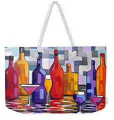 Bottle Of Wine Weekender Tote Bag