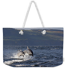 Bottlenose Dolphins Leaping - Scotland  #37 Weekender Tote Bag