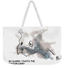 Bottom Line Weekender Tote Bag