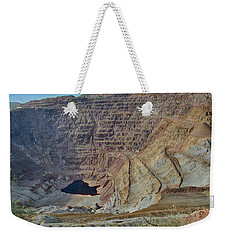 Weekender Tote Bag featuring the photograph Bottom Of The Lavender Pit Mine by Dan McManus
