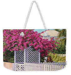 Bougainvillea Crown Weekender Tote Bag