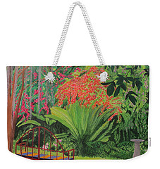 Bougainvillea Garden Weekender Tote Bag by Hilda and Jose Garrancho