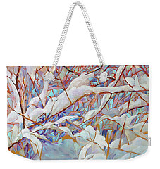 Weekender Tote Bag featuring the painting Boughs In Winter by Joanne Smoley