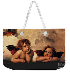 Weekender Tote Bag featuring the painting Bouguereau Painting Fresh Paint  by Catherine Lott