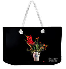 Bouquet In Red Weekender Tote Bag by Torbjorn Swenelius