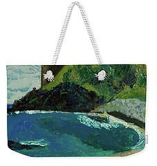 Weekender Tote Bag featuring the painting Boulder Beach by Paul McKey