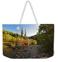 Boulder Colorado Canyon Creek Fall Foliage Weekender Tote Bag
