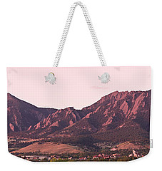 Boulder Colorado Flatirons 1st Light Panorama Weekender Tote Bag by James BO  Insogna