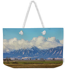 Weekender Tote Bag featuring the photograph Boulder Colorado Front Range Cloud Pile On by James BO Insogna