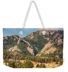 Weekender Tote Bag featuring the photograph Boulder Colorado Rocky Mountain Foothills by James BO Insogna