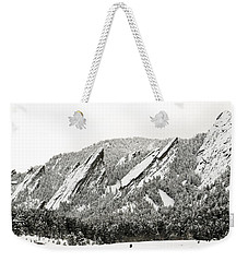 Boulder Flatirons Colorado 1 Weekender Tote Bag by Marilyn Hunt