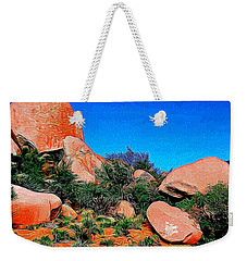 Boulders 7 In Abstract Weekender Tote Bag