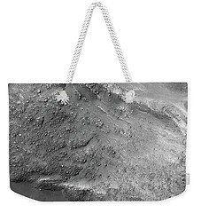Weekender Tote Bag featuring the painting Boulders On A Martian Landslide by Artistic Panda