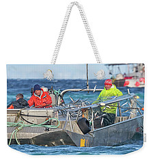 Weekender Tote Bag featuring the photograph Bouncing Herring by Randy Hall