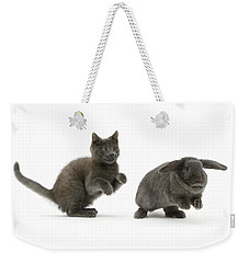 Bouncing With Bunny Weekender Tote Bag