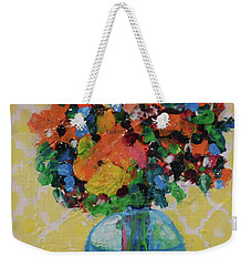Bouquet-a-day #7 Original Acrylic Painting Free Shipping 59.00 By Elaine Elliott Weekender Tote Bag
