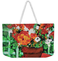 Bouquet A Day Floral Painting Original 59.00 By Elaine Elliott Weekender Tote Bag