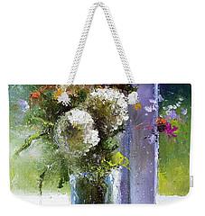 Bouquet At Window Weekender Tote Bag