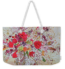 Weekender Tote Bag featuring the painting Bouquet Desjours by Joanne Smoley