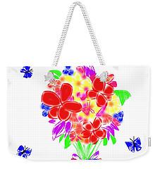 Bouquet Doodle Weekender Tote Bag