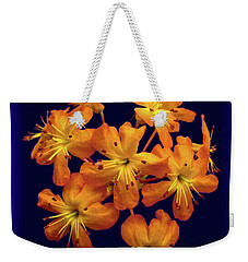 Weekender Tote Bag featuring the digital art Bouquet In A Box by Donna Brown