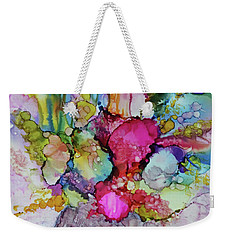 Weekender Tote Bag featuring the painting Bouquet In Pastel by Joanne Smoley