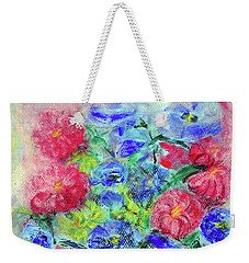 Weekender Tote Bag featuring the painting Bouquet by Jasna Dragun