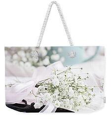 Bouquet Of Baby's Breath Weekender Tote Bag by Stephanie Frey