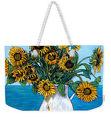 Weekender Tote Bag featuring the painting Bouquet Of Beauty by Tom Roderick