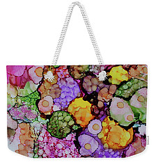 Weekender Tote Bag featuring the painting Bouquet Of Blooms by Joanne Smoley